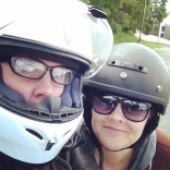 Motorcycle lessons with my pal Marissa