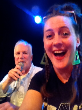 Photobombing my own picture of Bill Corbett.
