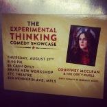 I headlined the Brave New Workshop ETC Comedy Showcase.