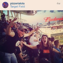 I worked for an awesome pizza joint and was at the best Twins game ever. They scored 13 times and there were like 4 crazy homeruns. It was magical.