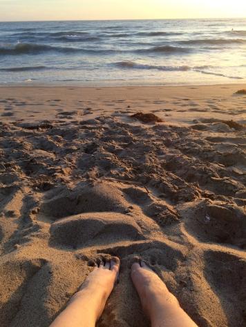 Yeah beach feet