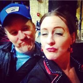 Me and Dan Finnerty! We opened for The Dan Band on Jan. 16, 2015.