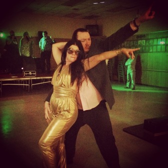 The man in this picture is my friend Kyle, who passed away in December. We'll miss him terribly. (Gold-suited lady is the fabulous Morgan, still alive and kickin)