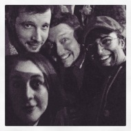 With my Rockstar Storytellers Dave, Rob, and Allegra.